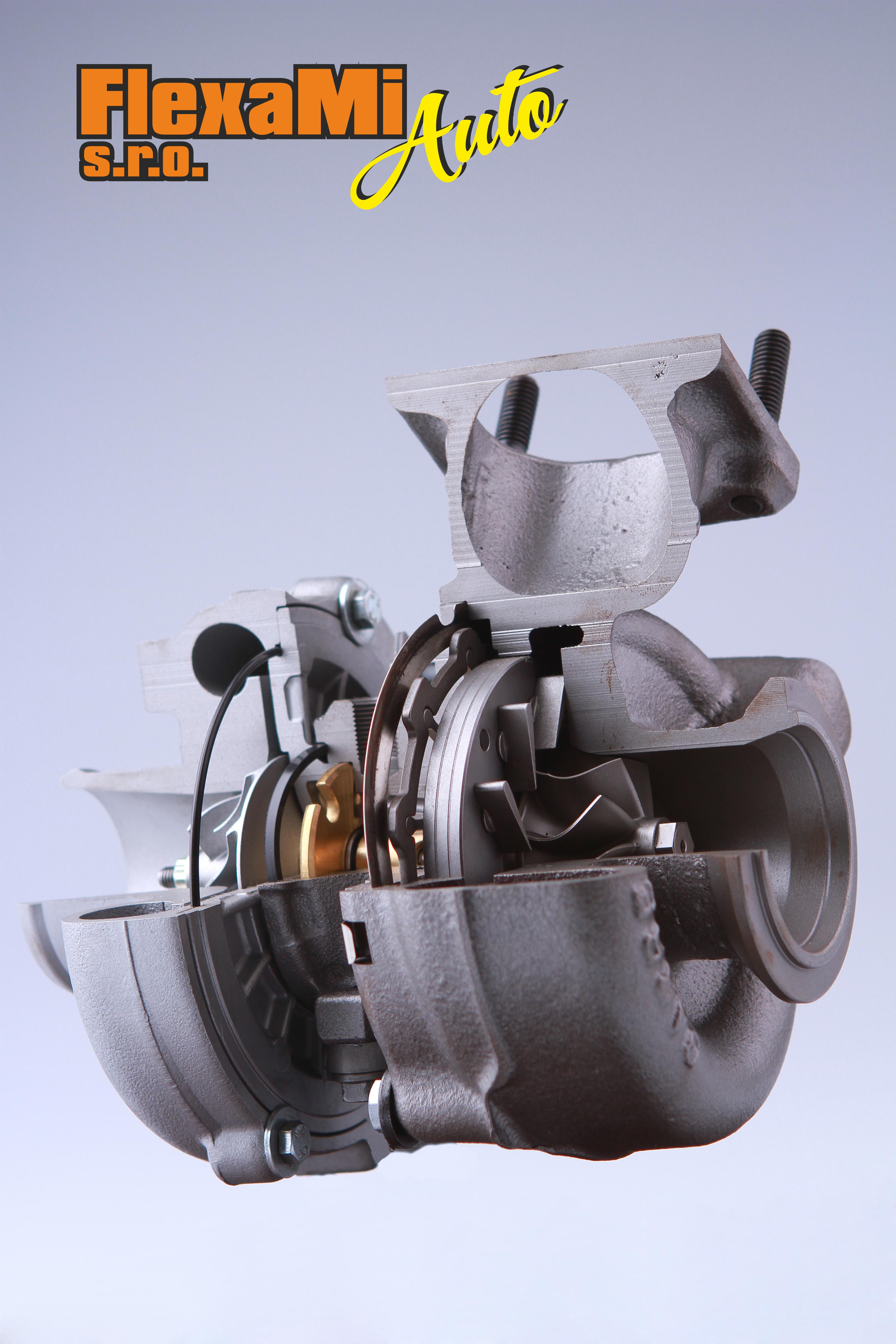 Repasované turbodmychadlo řez